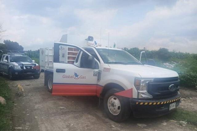 Roban camioneta repartidora de gas en Amozoc