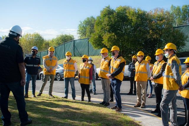 Miembros del CCE visitan la Planta San Francisco de Agua de Puebla
