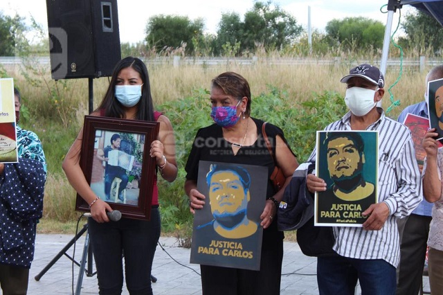 Exigen en audiencia justicia para joven asesinado en Xoxtla