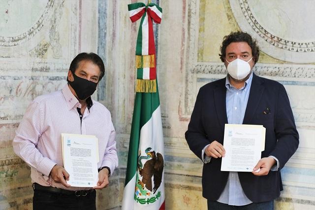 CCSJ y CDH Puebla firman convenio de colaboración