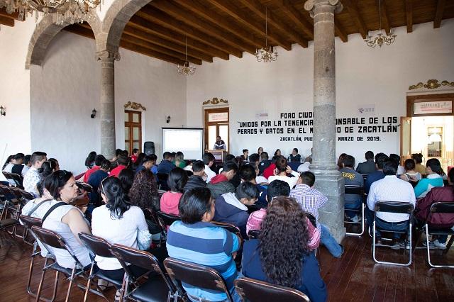 En Zacatlán, foro ciudadano para la tenencia responsable de perros y gatos