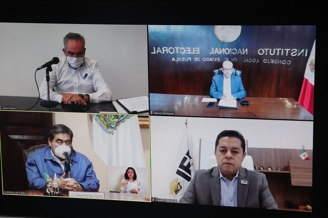 Garantizan atención médica a personal de institutos electorales en Puebla