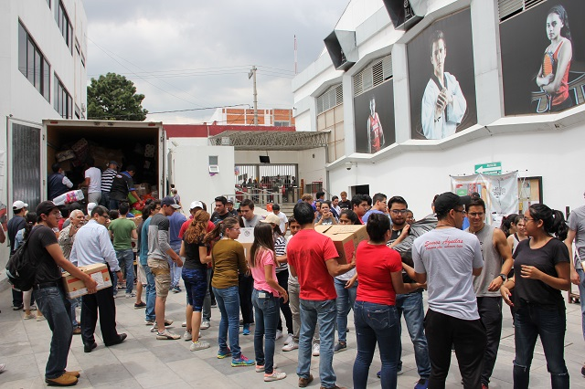 Envía la UPAEP 20 toneladas de víveres a damnificados por sismo