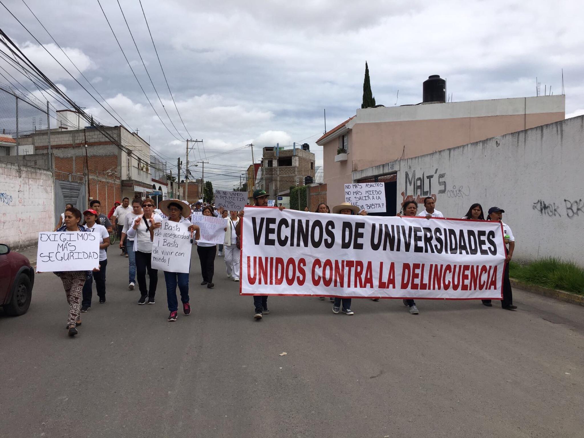 Marchan contra la inseguridad vecinos de Ciudad Universitaria