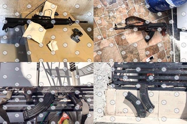 Liberan a miembros del CJNG detenidos con arsenal en Puebla