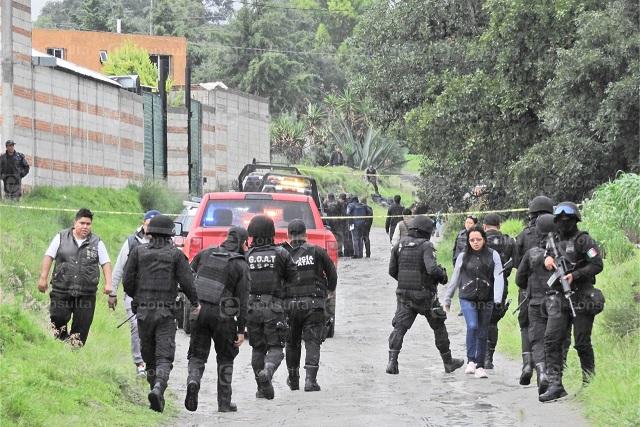 Planearon ejecución de policías de Amozoc por exhibir corrupción