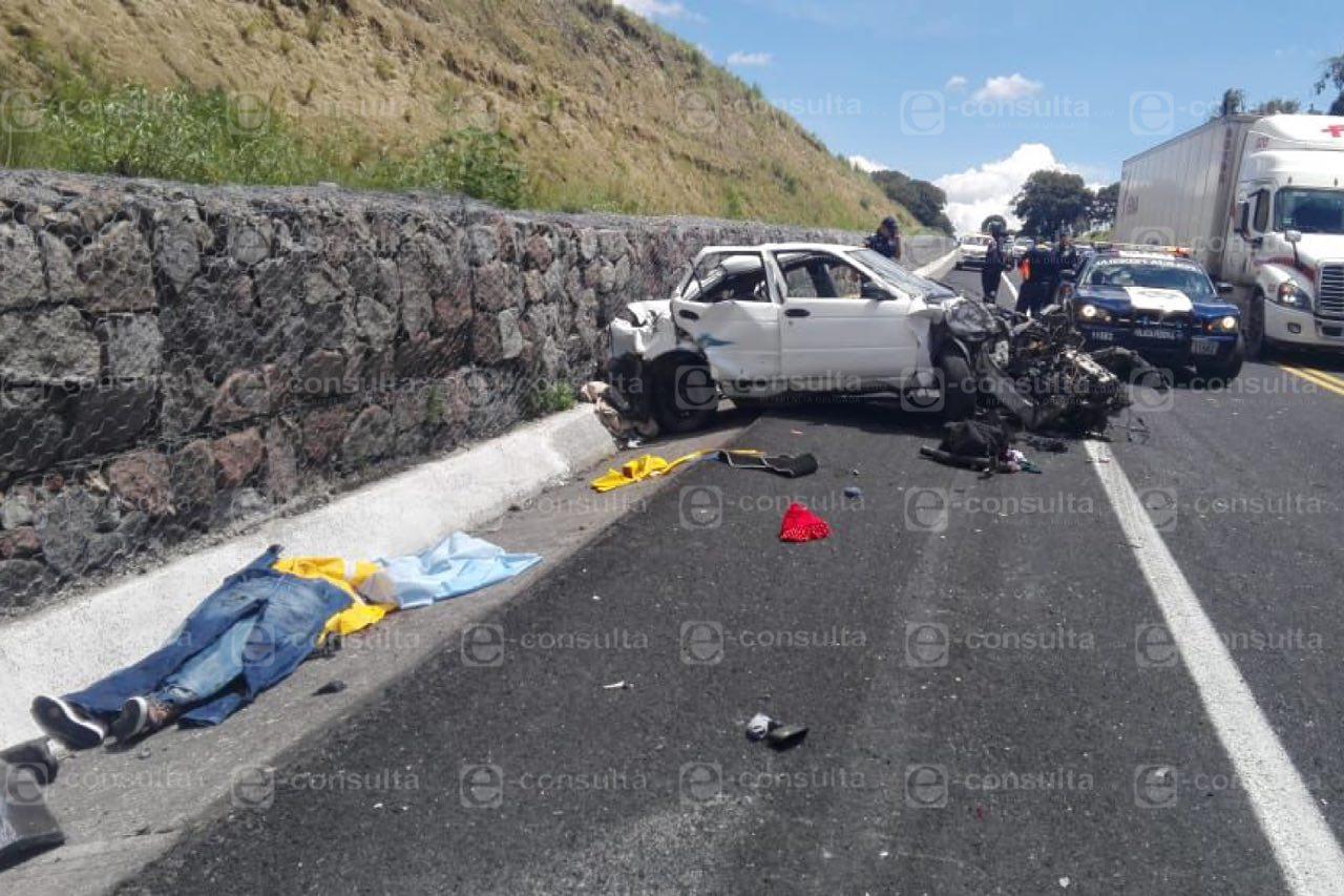 Un muerto y cuatro heridos deja choque en la Amozoc-Perote