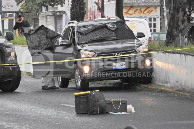 Asesinan a conductora en plena Recta a Cholula