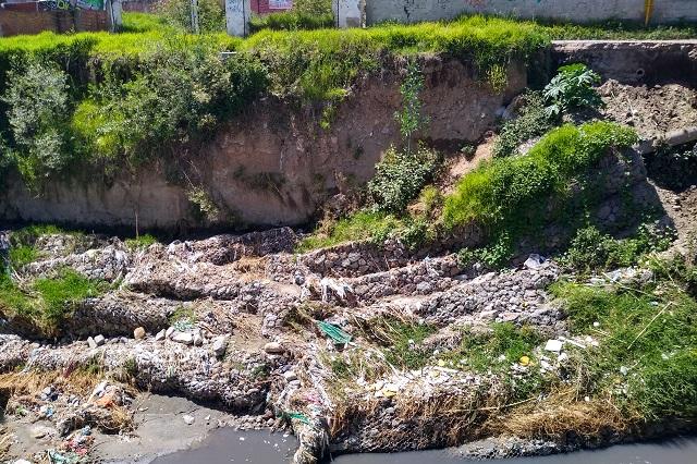 Atienden autoridades daños en márgenes del río Alseseca