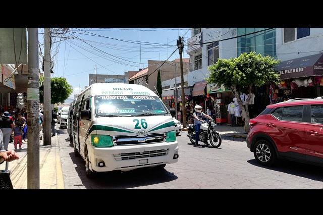 Prevén retirar más unidades del transporte público en Tehuacán