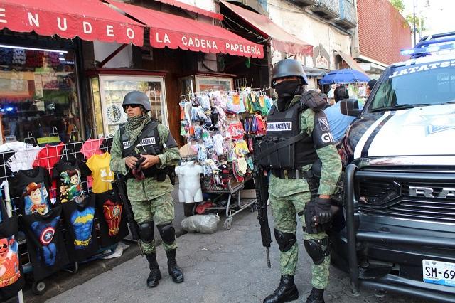 Una decena de detenidos deja cateo en vecindad de la 3 Norte