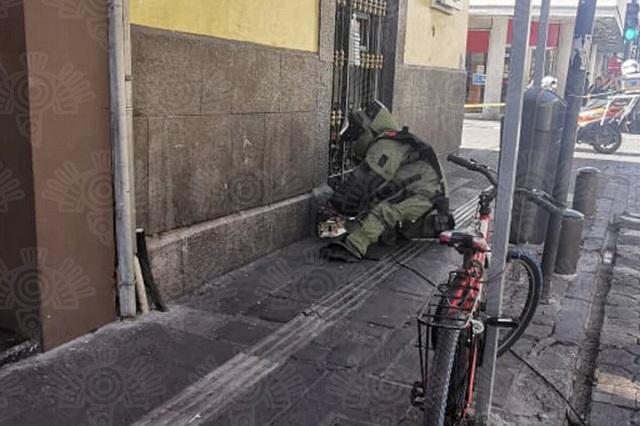 Caja sospechosa provoca alerta en el Centro Histórico