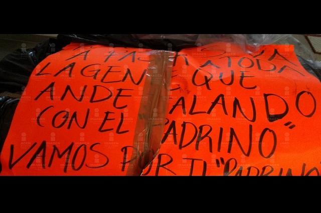 Hallan cadáver desmembrado y con narcomensaje en El Seco