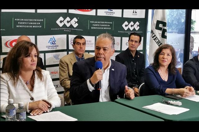 Cerco sanitario y parar impuestos por el Covid-19, exige CCE Puebla
