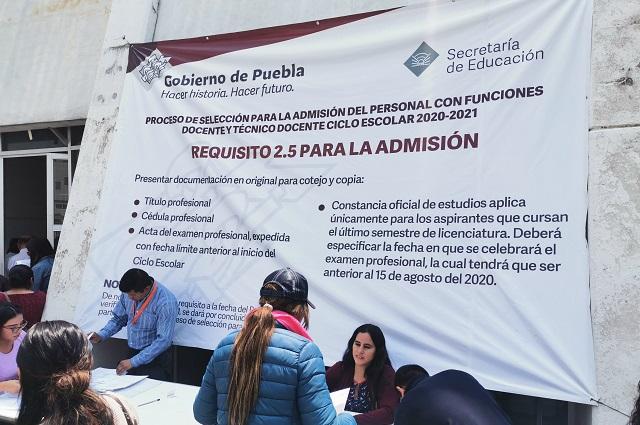 Inicia en Puebla selección de personal docente 2020-2021