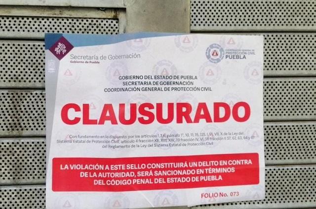 Gobierno estatal clausuró tienda en el centro de Puebla