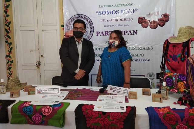 Abren feria artesanal con productos de Puebla, Chiapas y Oaxaca