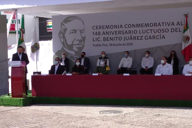 Recuerdan el 148 aniversario luctuoso de Benito Juárez