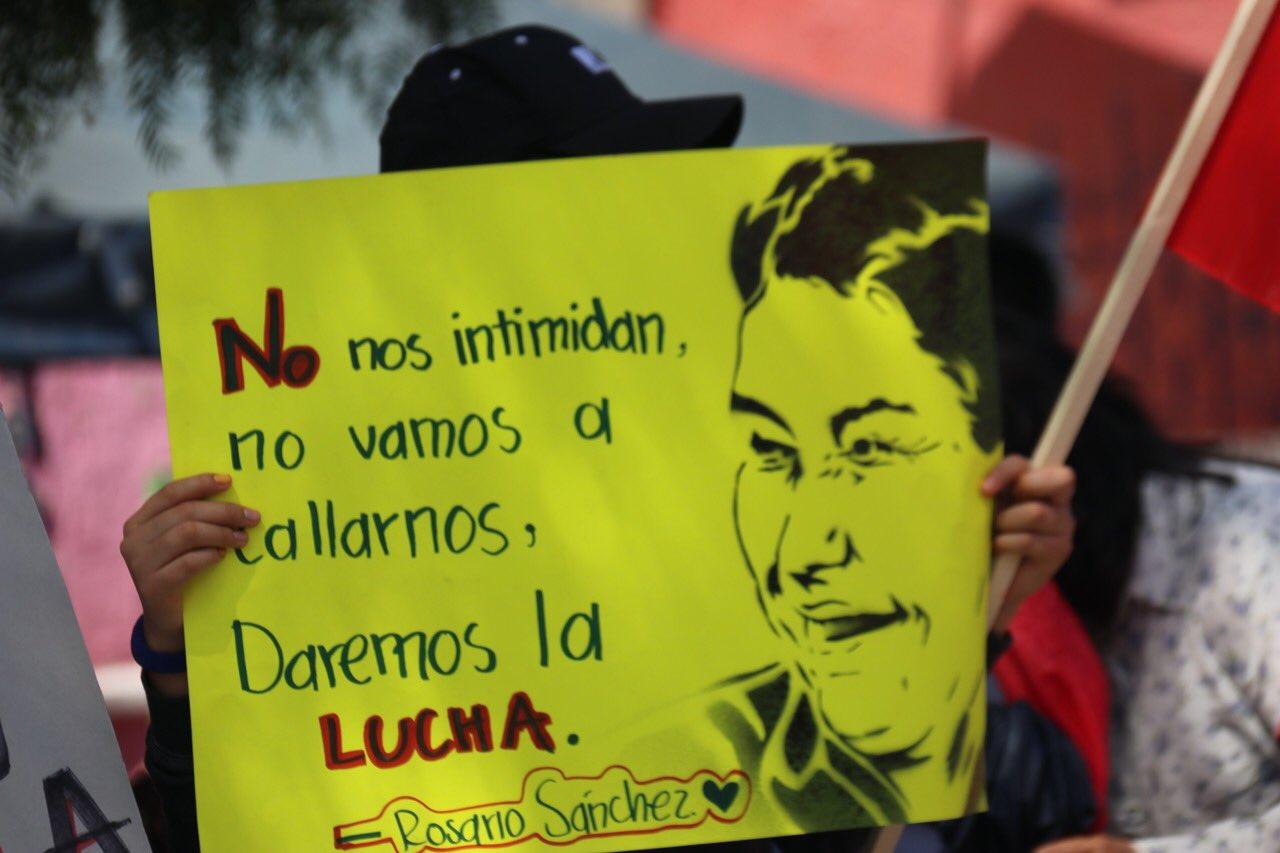 Antorchistas exigen frenar persecución de Rosario Sánchez