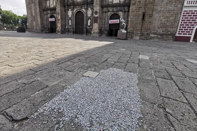 Parchan con grava daños de la Capilla Sixtina en Catedral