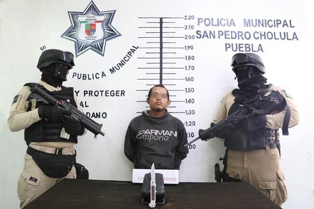 Cae presunto líder de 'Los Parkas' en San Pedro Cholula