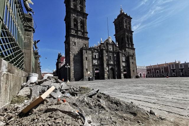 Reparación de lajas de la Catedral alcanza un 90%: INAH