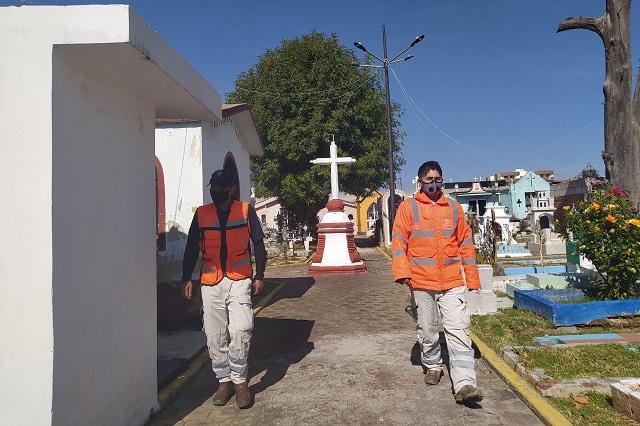 Con medidas sanitarias, Día de muertos de San Pedro Cholula