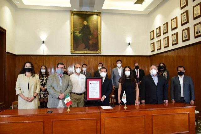 Premia FENAMM a San Pedro Cholula como municipio transparente