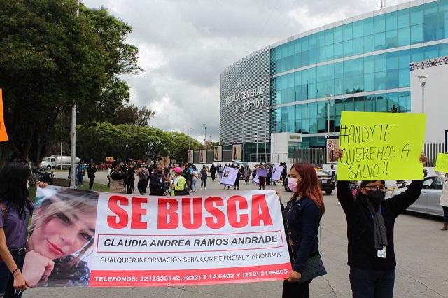 Protestan por la desaparición de joven mujer en Cuautlancingo