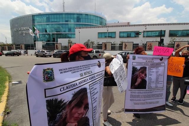Agilizar búsqueda de joven desaparecida exigen a FGE