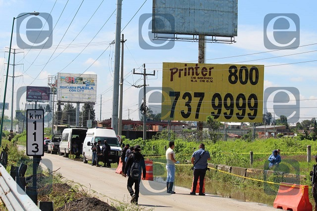 Hallan cadáver descuartizado junto a la México-Puebla