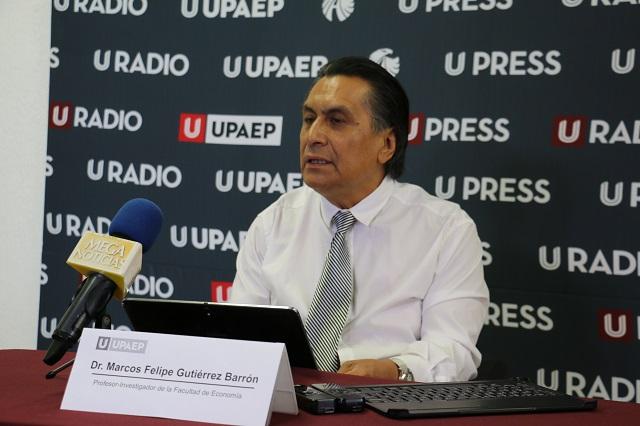 Estanca crisis electoral economía poblana, dice docente UPAEP