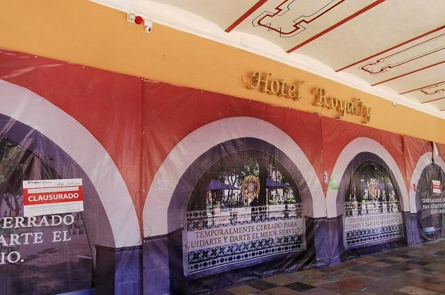 Clausuran remodelación del Hotel Royalty en centro de Puebla