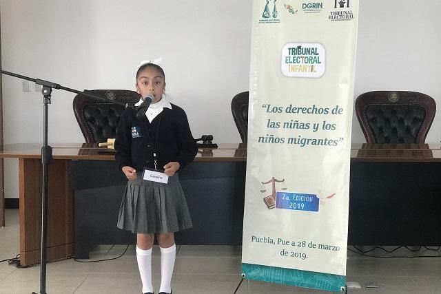 Niños poblanos avanzan a etapa regional de certamen TEPJF-TEEP