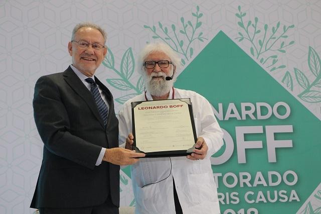 Resultado de imagen para ibero puebla leonardo boff doctorado honoris causa