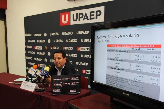 Costo de canasta básica alimentaria en Puebla supera media nacional