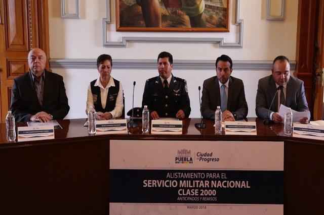 Invitan a jóvenes a iniciar registro para el Servicio Militar Nacional