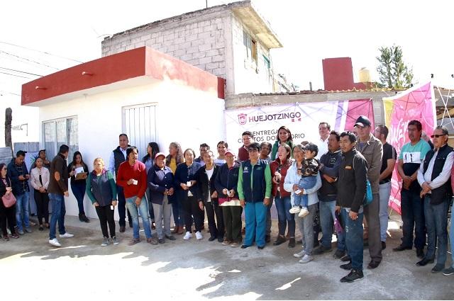 """Angélica Alvarado entrega cuartos dormitorio del programa """"hogar digno"""""""