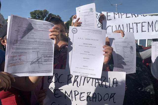 Papás exigen frenar robos en escuela Emperador Cuauhtémoc