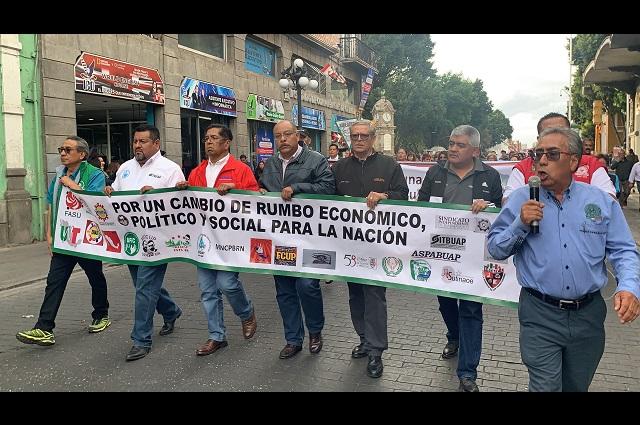 UNT en Puebla exige a AMLO mejores condiciones laborales