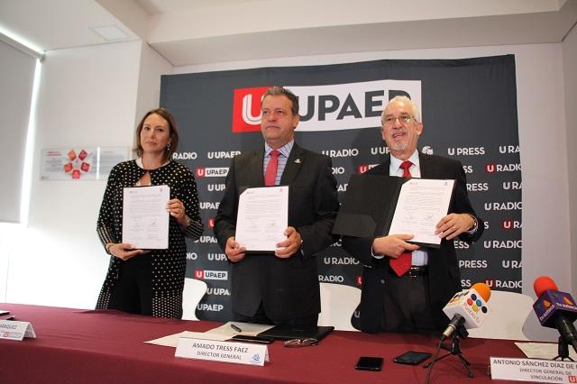 Firman convenio para que personal de  Coparmex estudie en la Upaep