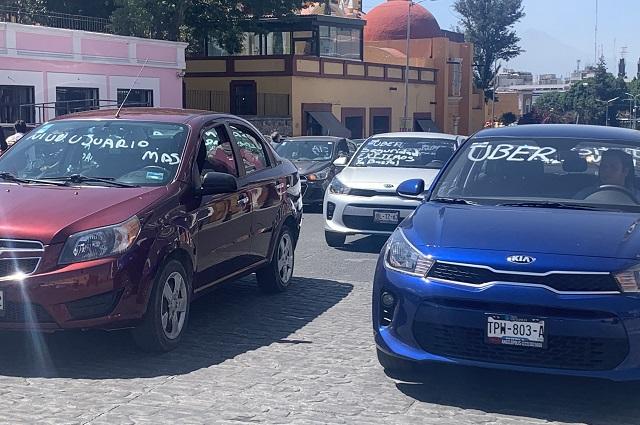 Conductores de Uber también piden justicia en Casa Aguayo