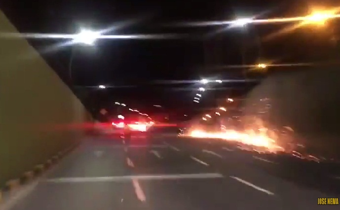 Impactante video: Joven estrella a toda velocidad su Mercedes Benz