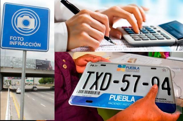Trae 2020 a poblanos pago de placas, fotomultas e impuestos