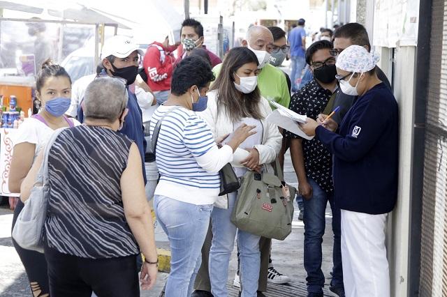 Aumenta promedio diario de contagios Covid en Puebla