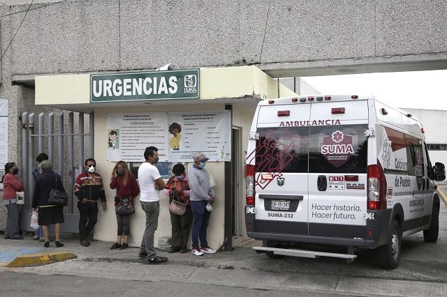 Registra Puebla 109 nuevos contagios y 10 muertes por Covid