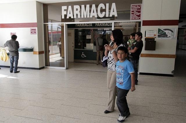 Denuncian abasto deficiente de medicamentos en hospitales