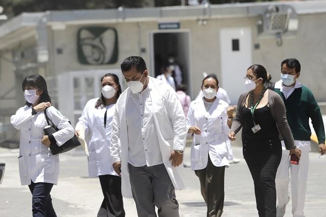 2 de cada 10 contagios de Covid en Puebla, en personal médico