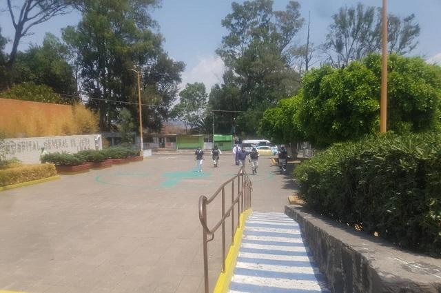 Guardia Nacional vigila funcionamiento de IMSS en Metepec
