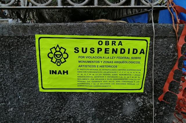 INAH suspende obra de túneles junto a hotel de Gustavo Vargas